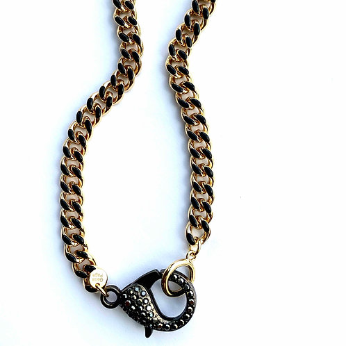 Lakeview Black and Gold With CZ Clasp