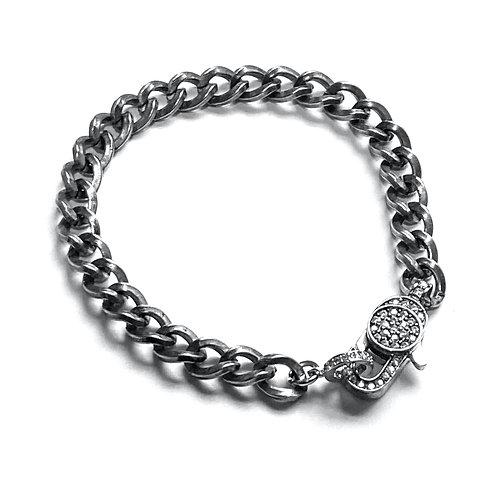 Curb Gunmetal Bracelet