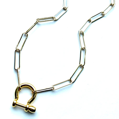 Shackle Paperclip Gold