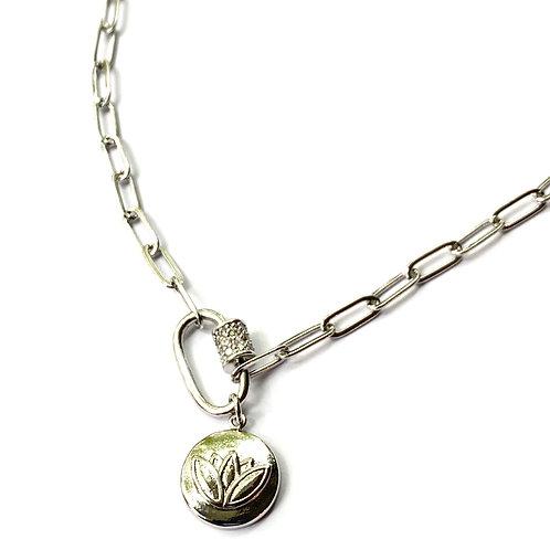 Cherie Mini Silver Lotus