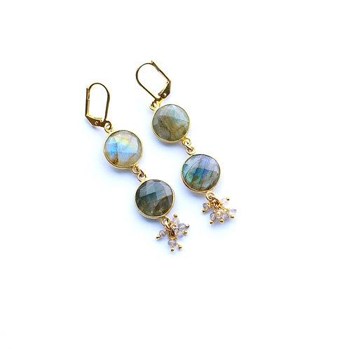 Shaker Labradorite Earrings