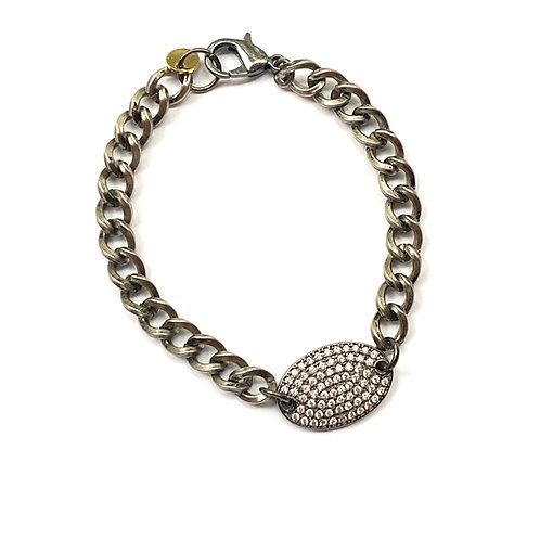 Curb Oval Pave Bracelet