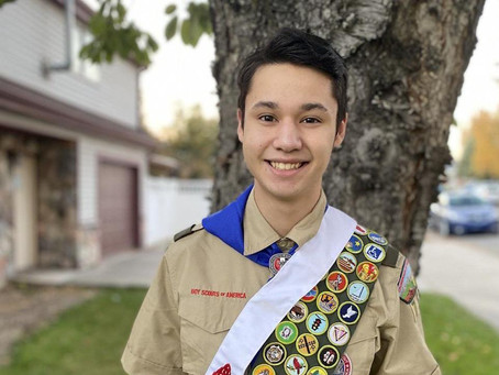 Provo Scout earns all 137 merit badges! #ProvoProud