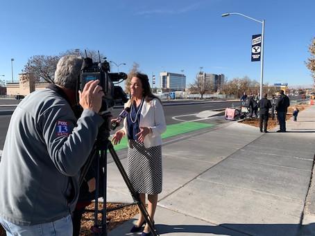 Cougar Blvd Bike Lanes are Complete!