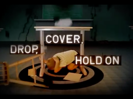 Drop, Cover, and Hold On!