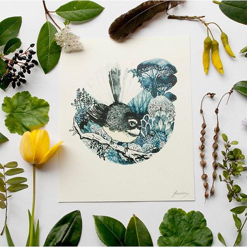Fantail / pīwakawaka - Print