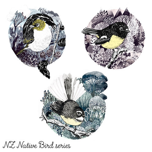 NZ Natives - All 3 - Art Prints