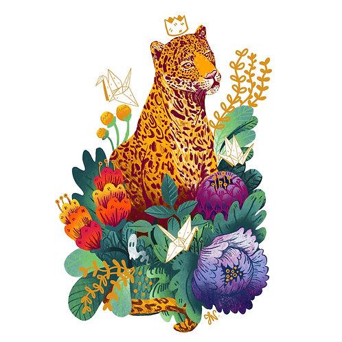 Leopard King- A5 Print