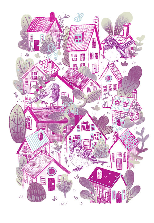 Tiny Houses - A5 Print