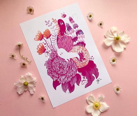 Ghost flowers - Art Print