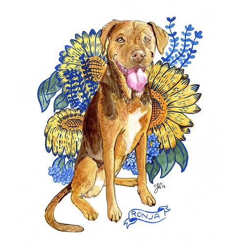 Botanical - Pet Portrait
