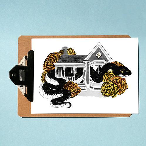 Snake House - Stuck Prints Series