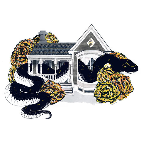 Snake in the house - Stuck Prints Series