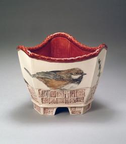 Medium Triple Bowl with Birds