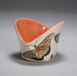 Tutti Frutti Bowl with Buterflies