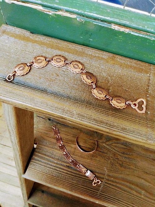 Copper Bracelet Navajo Design