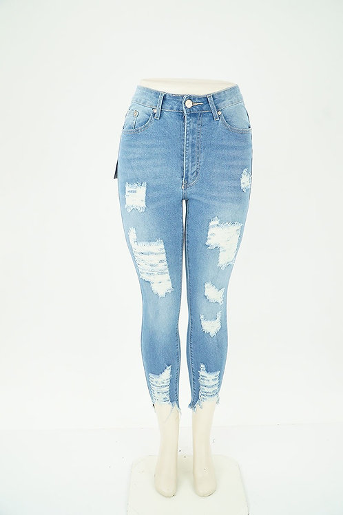 High Waisted Favorite Distressed Skinny Jeans