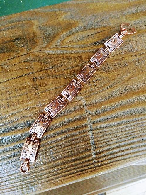 Copper Navajo Eagle Bracelet