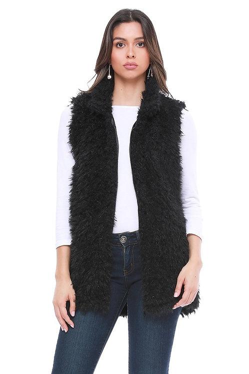 Zippered Fur Vest