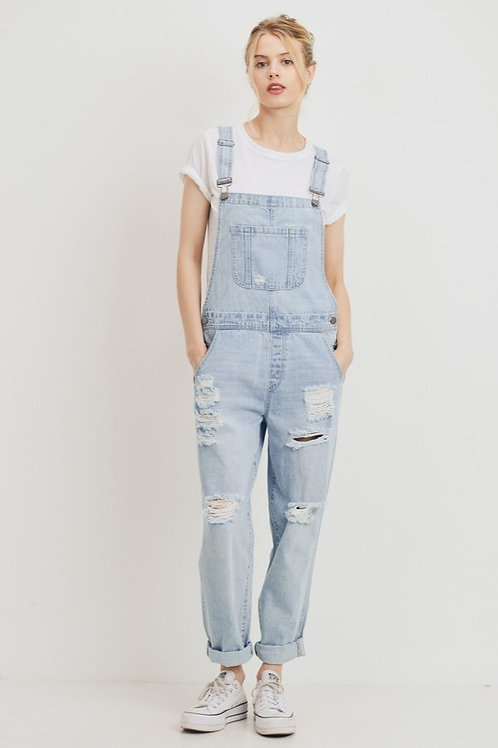 Classic Distressed Overalls