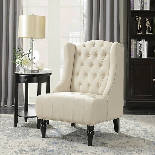 Tufted Accent Chair Ivory