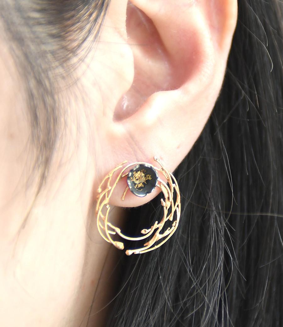 5+2 Experimental Jewelry - Camellia Earrings Set