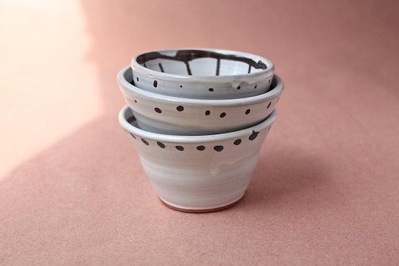 Small Striped Bowls