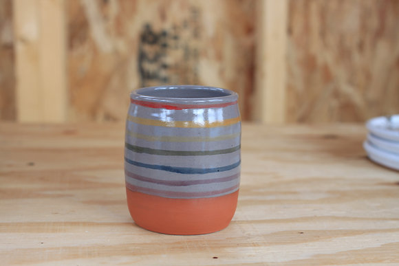 Striped Rainbow Tumbler