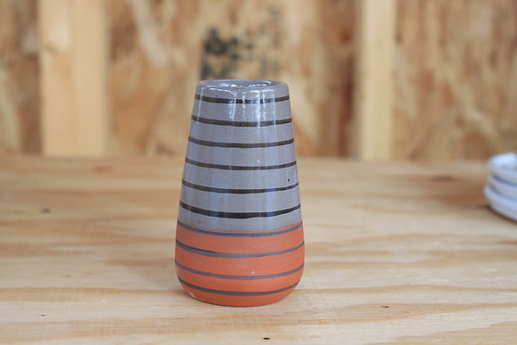 Striped Bud Vase