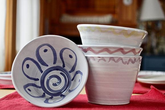 Large Soup Bowls- Flower