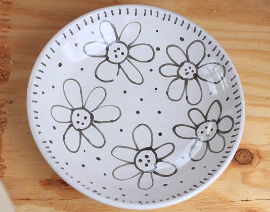 "9.5"" Shallow Flower Bowl"
