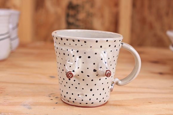 Dotted Bloomer Mug