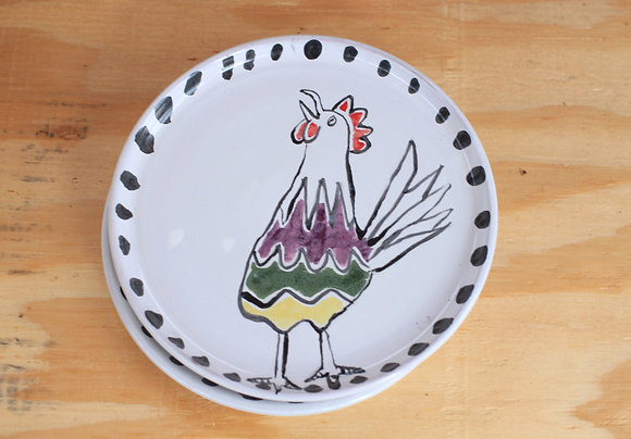 "7"" Rooster Snack Plates"