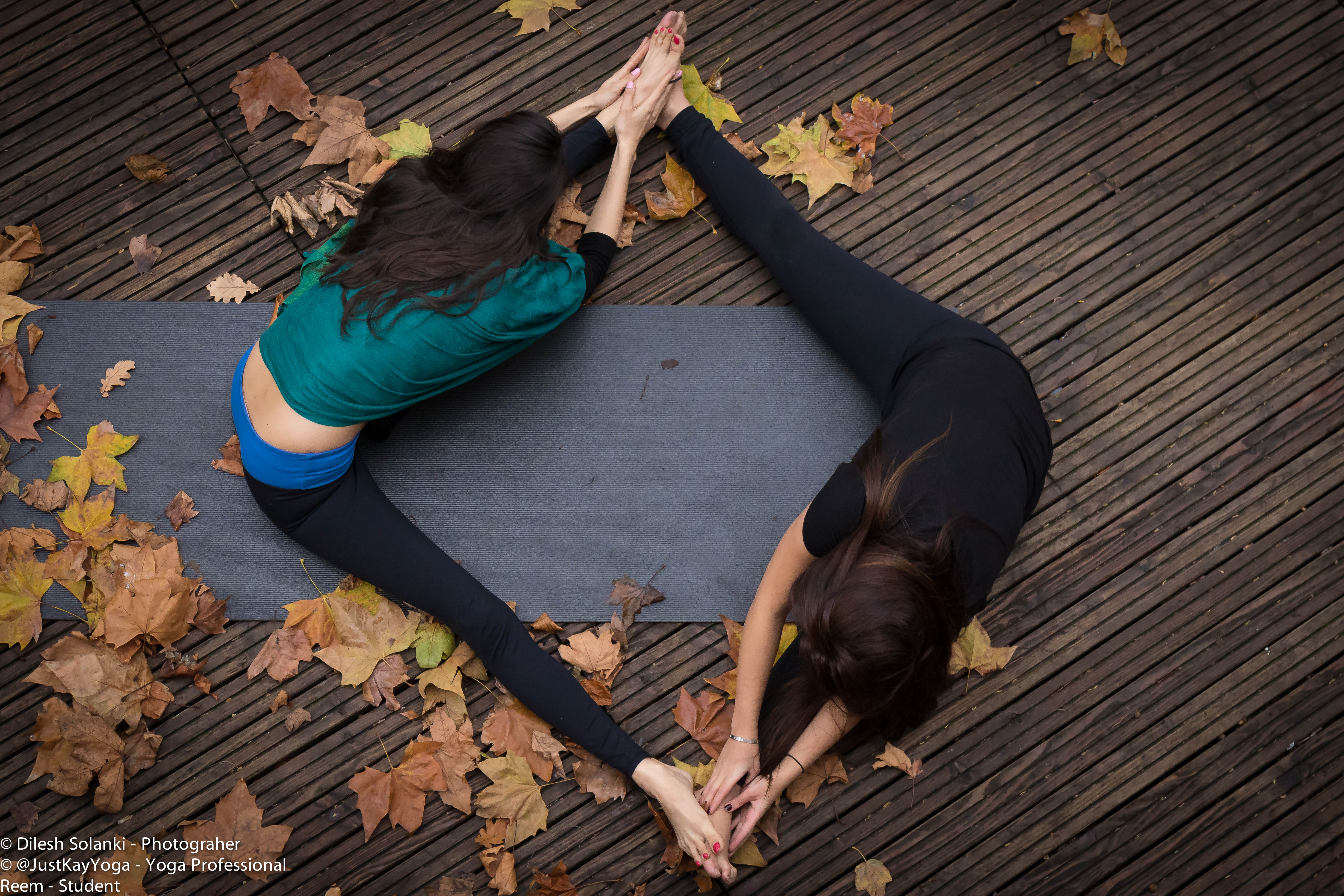 Yoga photos with student