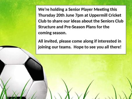 Senior Player Meeting