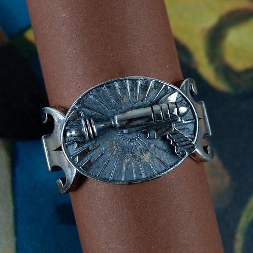 Gothic Ray Gun   Ring Silver
