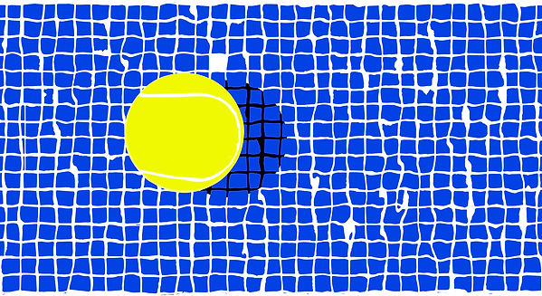 Marcel Max Tennis ball over pool Fabric