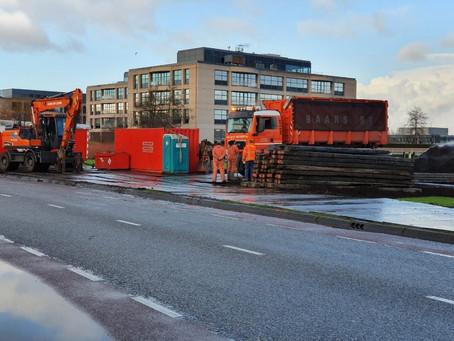 Werkzaamheden PWN nabij Ringvaart