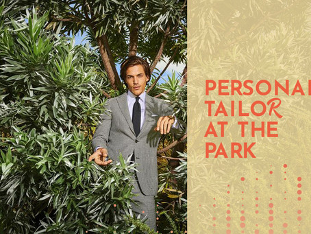 Suitsupply tailor at the park