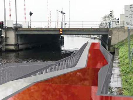 Start fietsonderdoorgang Aalsmeerderbrug