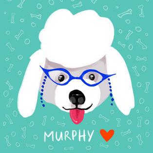 Custom Digital Pet Portrait - Glasses VI