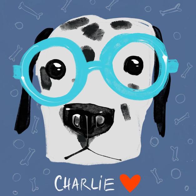 Custom Digital Pet Portrait - Glasses III
