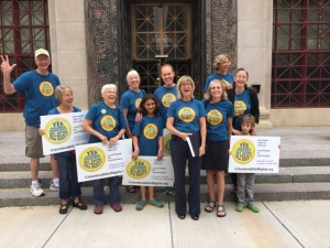 Group in front of city hall 7-2-15