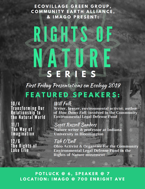 Community Rights/Rights of Nature in Cincinnati – Speakers Series