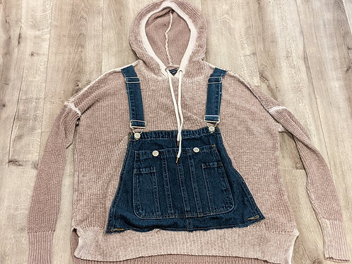 Upcycled Hooded Sweater - Med