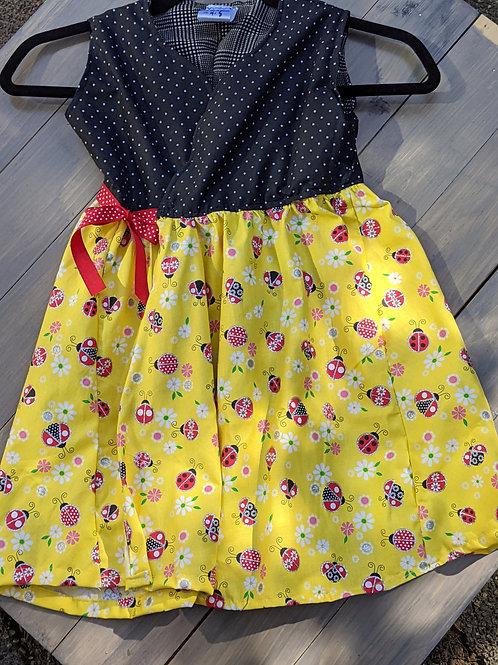 Spring Lady Bug Wrap Dress
