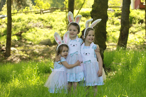 Bunny Apron Dress with Bow