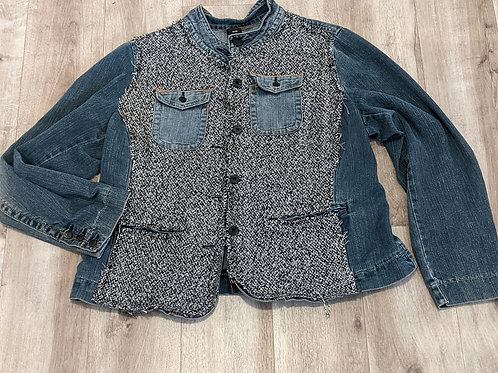 Women's Upcycled Tweed Rodeo Jacket - XL