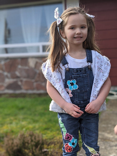Upcycled Justice Overalls- Size 6