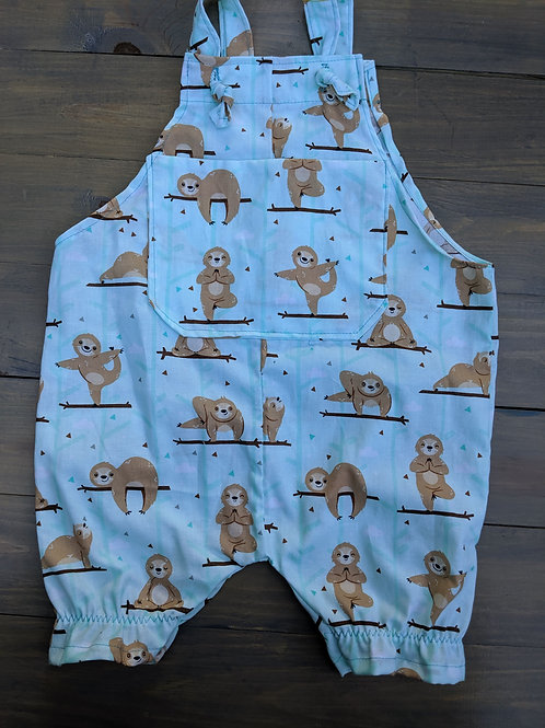 Sloth Overalls - Size 18 Months